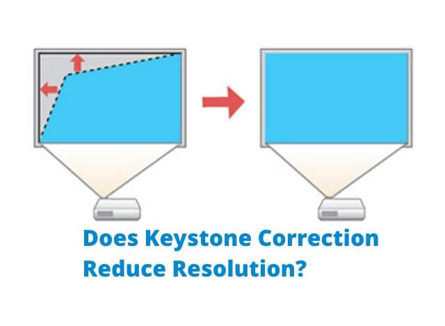 Does Keystone Correction Reduce Resolution