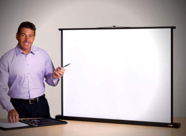 01 Different types of projector Screens 14 Tabletop Projector Screens