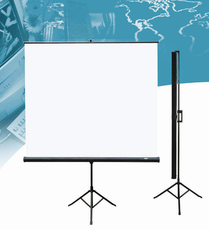 01 Different types of projector Screens 15 Tripod Projector Screens