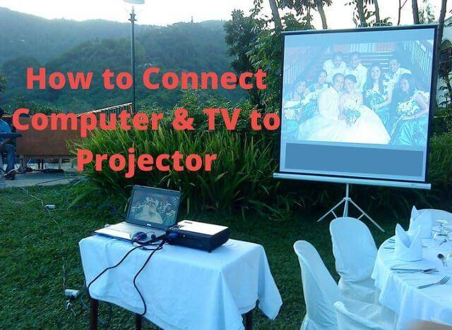 04 how to connect computer and TV to Projector 00