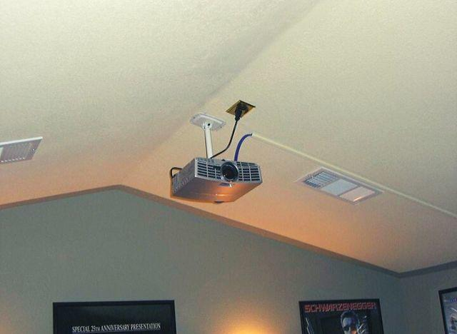 How To Hide A Ceiling Mounted Projector