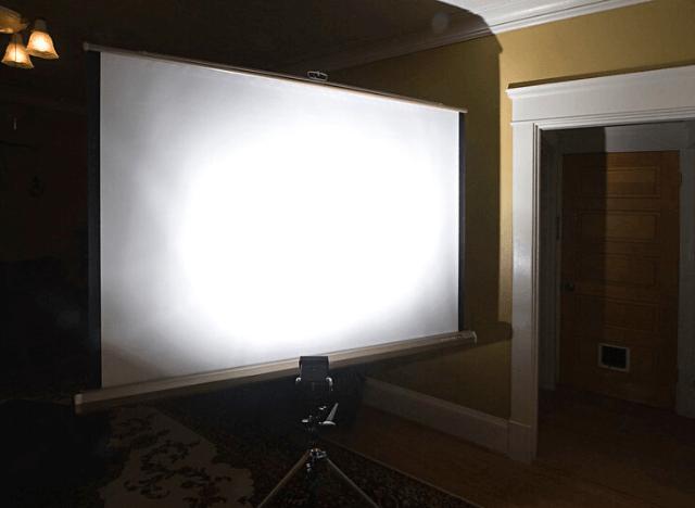 White versus Grey versus Silver Projector Screen